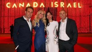 ורד וברק רוזן, אסי ומירי טוכמאייר. במסיבת יום העצמאות של קנדה-ישראל